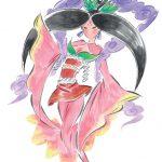 Sakuya as seen in Okami's artbook.