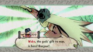 Okami game screenshot: Waka, first meeting.