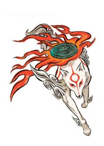 Official artwork of Ammy running, showing Divine Retribution reflector