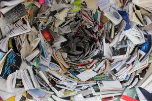 Storm vortex of books