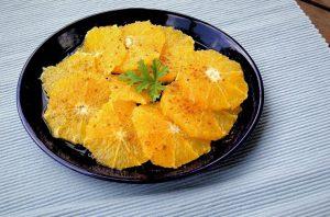 Dessert made of oranges.