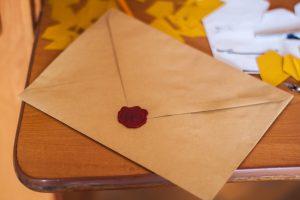 A sealed envelope