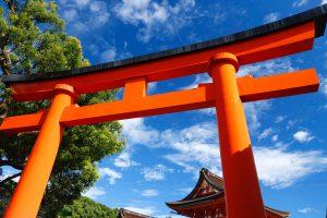 Photo of a Torii gate.