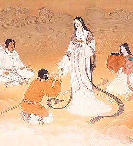 """Painting of Amaterasu-Omikami, by """"Yuniwa no Inaho"""""""