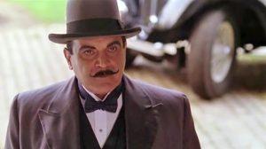 Screen capture of David Suchet, as Poirot.
