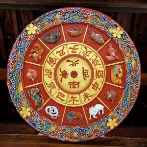 Photo of Japanese Zodiac wheel (Junishi).