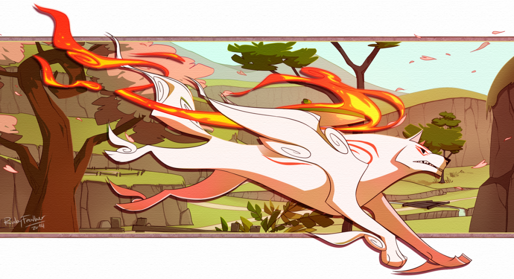 Ammy running powerfully and purposefully, apparently ready for battle.