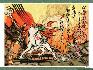 """Official """"Okami"""" art by Clover Studio, Capcom"""