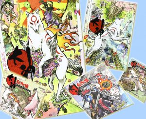Official Okami video game story books/comics.