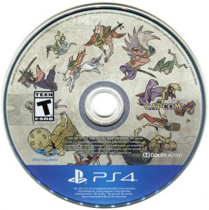 The Playstation 4 Okami video game disc.