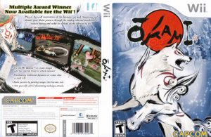 Okami Wii box cover, front and back.