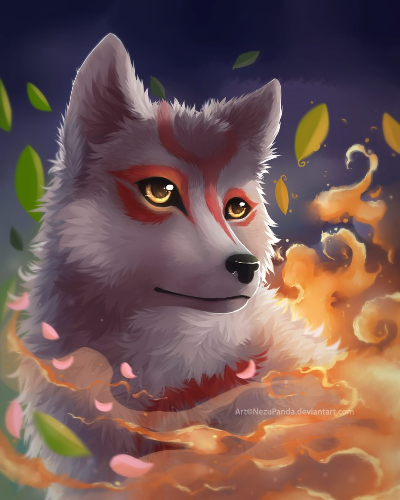 Portrait painting of Ammy, gazing into the distance with a gentle and feminine expression on her face.