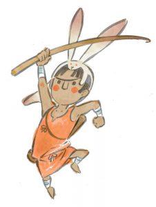 Okami official art: Boy of the Forest Kokari.