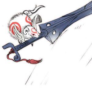 Okami official art: Brush God Tachigami
