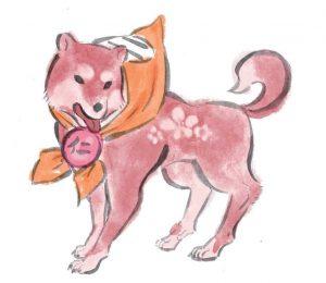 Okami official art: Canine Warrior Jin.