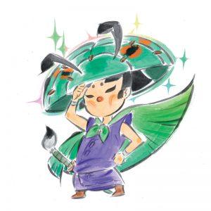 Okami official art: Wandering Artist Issun