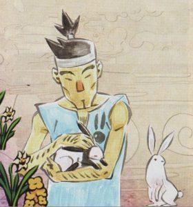 Okami official art: The Animal Lover of Ryoshima Coast.