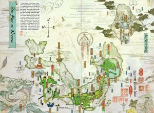 Okami official art, from the artbook - The Map of Nippon.