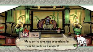 Screenshot from Okami game