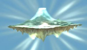 Okami screenshot from the game, showing Tamagahara, the Celestial Plain, home of the gods.