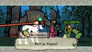 Okami game screenshot: Kaguya and the Bamboo Cutter.