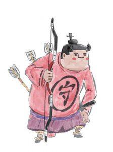 Official Okami character art of a human guard.