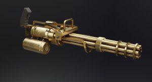 3D model of a fictional Mini/Gatling gun.