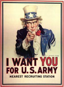 "US Army ""I Want You"" propaganda poster"